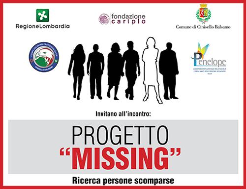 solidarietà persone scomparse presentazione Progetto Missing